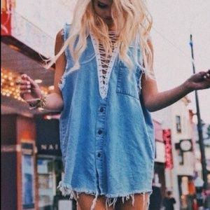 LF Furst of a Kind Chambray Oversized Top